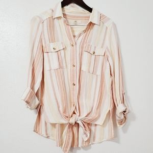 Thread + Supply Front Tie Boho Shirt Size Med